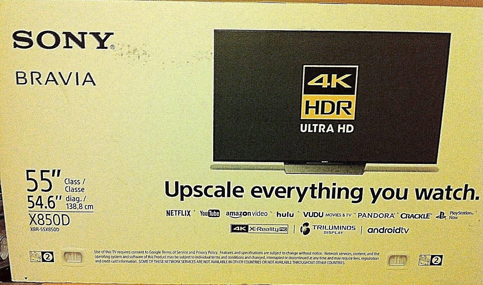 "Sony XBR-55X850D 55""4K UHD Motionflow 120HZ HDR Smart TV 2017 Model XBR55X850D"