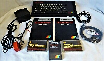 Sinclair ZX Spectrum 128K 6K TOASTRACK Fully Working Complete with 20 Free Games