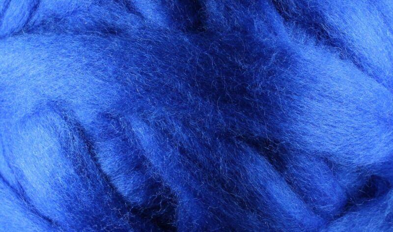 Wool Roving - 1oz - Royal Blue