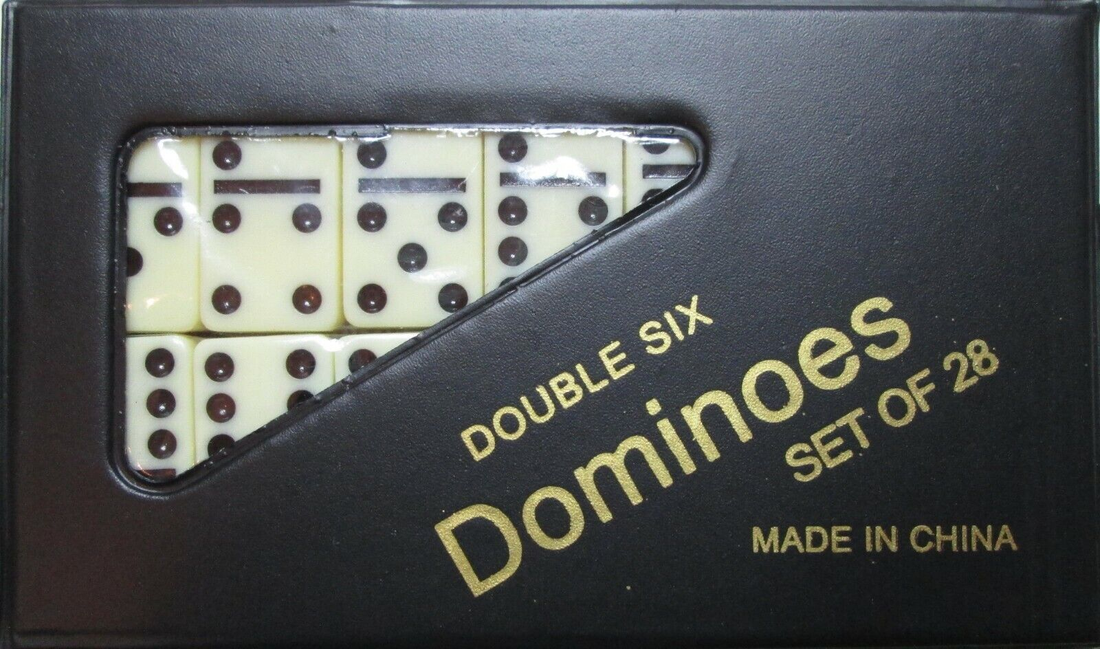 DOMINOES ONLINE DOUBLE SIX GAME MINI SET 28 TILES & CASE/FREE DOMINO SALE
