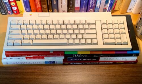 Clean Vintage Apple Keyboard II M0487 Macintosh ADB Desktop Bus