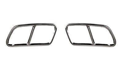 2x Chrome Auspuffblenden Edelstahl Abdeckung Auspuff Mercedes W212 S212 GLK X204