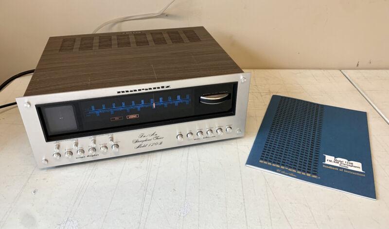 MARANTZ Model 120B Tuner w/ RARE WORKING SCOPE & Original Manual! *TESTED*