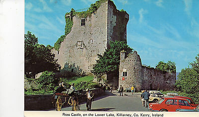 postcard Ireland Ross Casle on the Lower Lake  Killarney   Co Kerry unposted