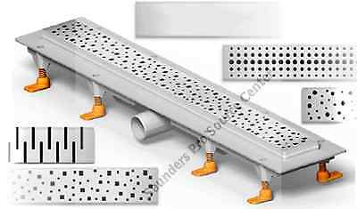 Drain System - PSC CH Shower 25 Inch Linear Drain System Multiple Grate Choices