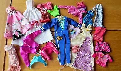 Mixed Collection Barbie and Fashion Dolls Clothes  Shoes  Bundle