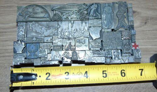Vintage Lead Letterpress Printing Blocks Dingbats All Are Lead