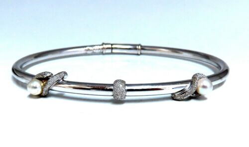 4mm South Seas Pearl Bangle Bracelet 18kt