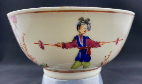 Chinese Export Porcelain Small Cup Circus Performers c.1765-1785 Famille Rose