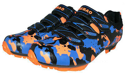 Fahrradschuhe MTB Radschuhe Mountainbikeschuhe orange-blau MST-OBS Gr. 41-47 Neu Mountain Schuhe
