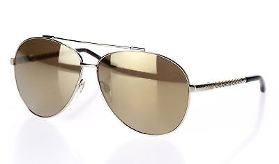 JUST CAVALLI Womens JC628S 32G Gold Tone Pilot Metal 61mm Sunglasses 132253