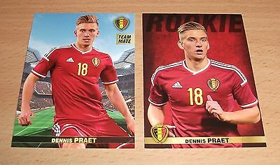 PANINI CARREFOUR LOT 27 59/180 - BELGIAN RED DEVILS TOUS ENSEMBLE - DENNIS PRAET