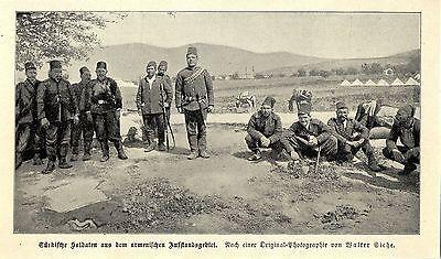 Türkische Soldaten im armenischen Aufstandsgebiet Historische Aufnahme von 1896