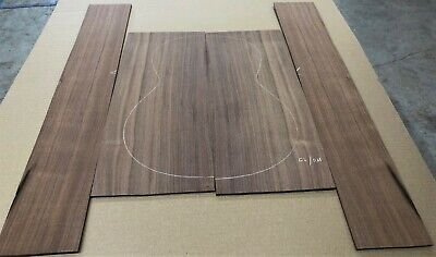 Straight grain Claro walnut OM acoustic guitar back and side set #42320-13