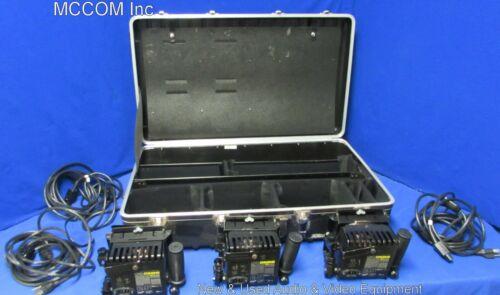Lowel Omni Lights Qty 3 w/ bulbs, barndoors, power cords, case