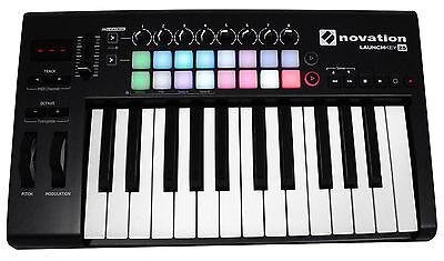 Novation LAUNCHKEY-25-MK2 25-Key USB MIDI Ableton Live Lite Keyboard Controller
