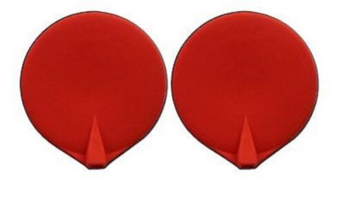 """CHATTANOOGA 3"""" ELECTRODE RUBBER CARBON RE-USABLE, RED ( 2 / PACK) Case of 5"""