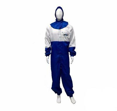 Anest Iwata Spray Paint Suit Coveralls Carbon Fibre 1 Piece W Hood Anti Static