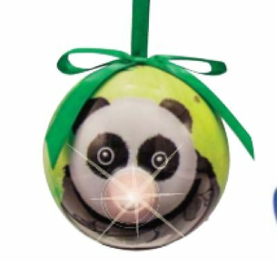 Twinkling Treasures PANDA BEAR Blinking Nose Ornament - Eye Catching - Panda Ornament