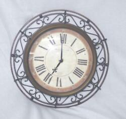Sterling and Noble Clock Company Scrolled Iron Roman Numerals 12""