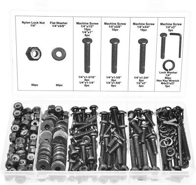 Swordfish 32171 - 363pc Allen Head Machine Screw Washer And Lock Nut Assortment