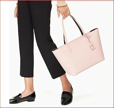 NWT Kate Spade Scotts Place Lida Pink Bonnet Mahogany  Leather Large Tote Bag