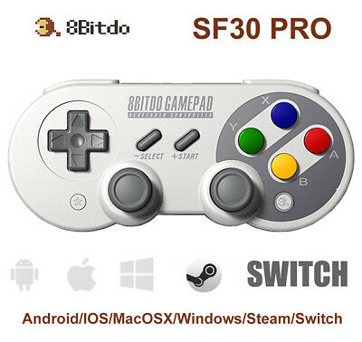8Bitdo SF30 PRO Wireless Bluetooth Controller Gamepad for Android/ iOS/PC/Switch