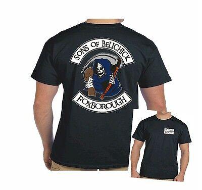 New England Football T Shirt  Sons Of Belichick  Die Hard Patriot T Shirt  6Oz