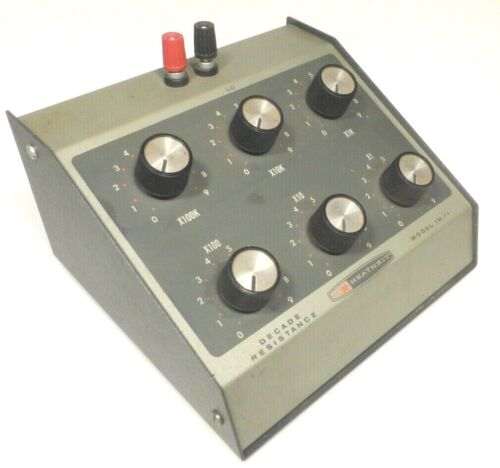 HEATHKIT  DECADE RESISTANCE  BOX IN-17  Tested / Working  100,000 ohms to 1 ohm