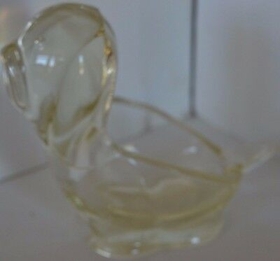 Vintage Glass Clear Paperweight Bowl Dog Figure