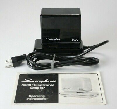 Vintage Swingline 5000 Electronic Electric Automatic Stapler Black 20 Page Max