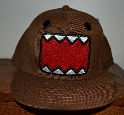 Domo Hat (DOMO EMBROIDERED Flat Bill Hat OFFICIALLY Licensed Fitted Cap Adult)