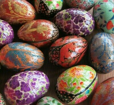 Fabulous Wholesale Job Lot Of 10 Assorted Hand Painted Russian Style Lacquer Egg