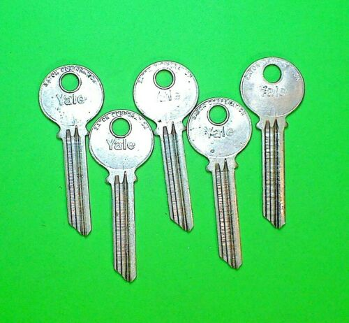 YALE ORIGINAL RN117 ZG KEYWAY, 7 PIN KEY BLANKS, LOT OF (5), NOS - LOCKSMITH