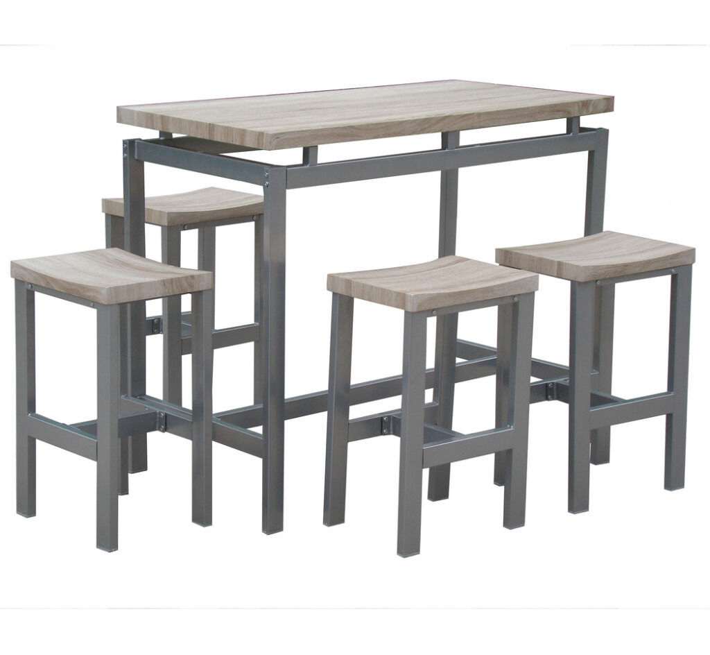 Industrial look metal and wood table brand new in for Best dining table brands