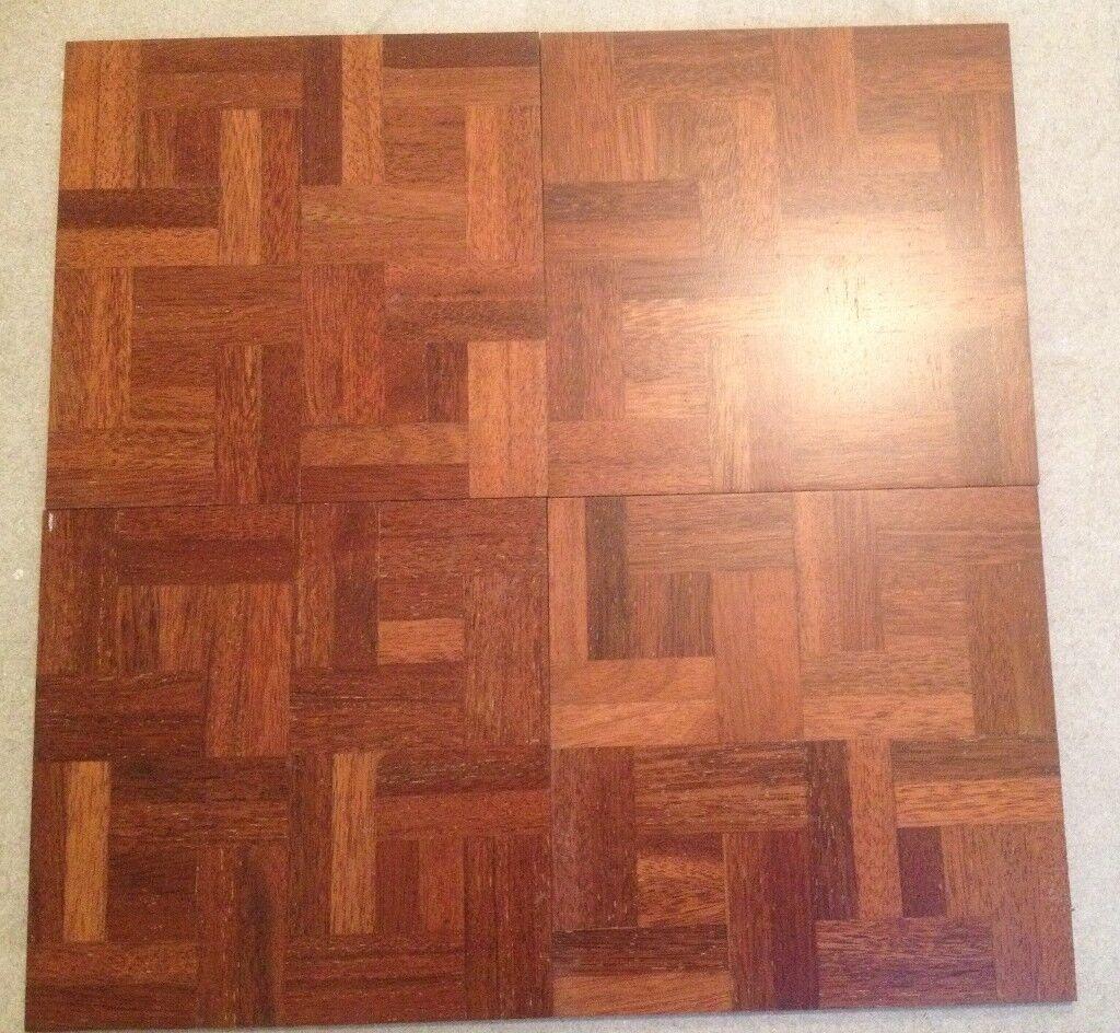 Nicoline Parquet 4 Square Sealed Wood Floor Tiles