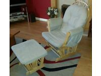 Nursing chair and footstool for sale