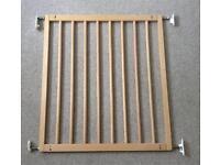 No trip wooden stair gate