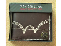 MENS Duck and cover brown wallet (NEW)