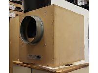 Tornado Acoustic Box Fan twin inlet - 10inch; (250mmm) Grow room ventilation/hydroponics