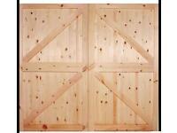 Wooden garage doors made to measure