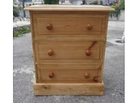 Lovely Small Solid Pine Chest Of Drawers