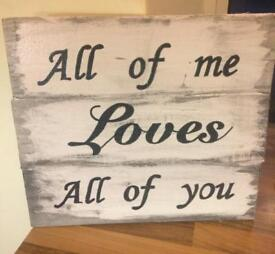 Made to order wall plaque