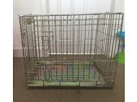 Deluxe Dog puppy pet cage / carrier crate in gold