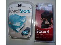 GO Medi Store and Secret Money Belt - Brand New in packs