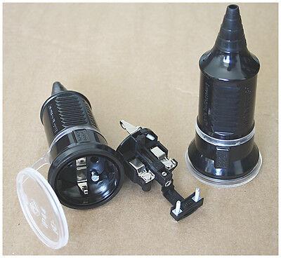 MENNEKES Amaplast Schukokupplung 10755 IP44 Kupplung schwarz 16A 2,5mm² 2,5qmm