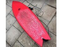Quad fish surfboard