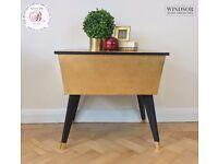 Gold and Black Vintage Side Table