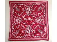 Vintage Hard Rock Cafe Save The Planet Scarf, looks great to wear or in a frame