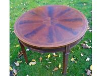 BEAUTIFUL ANTIQUE EDWARDIAN INLAID ROSEWOOD ROUND OCCASIONAL TABLE